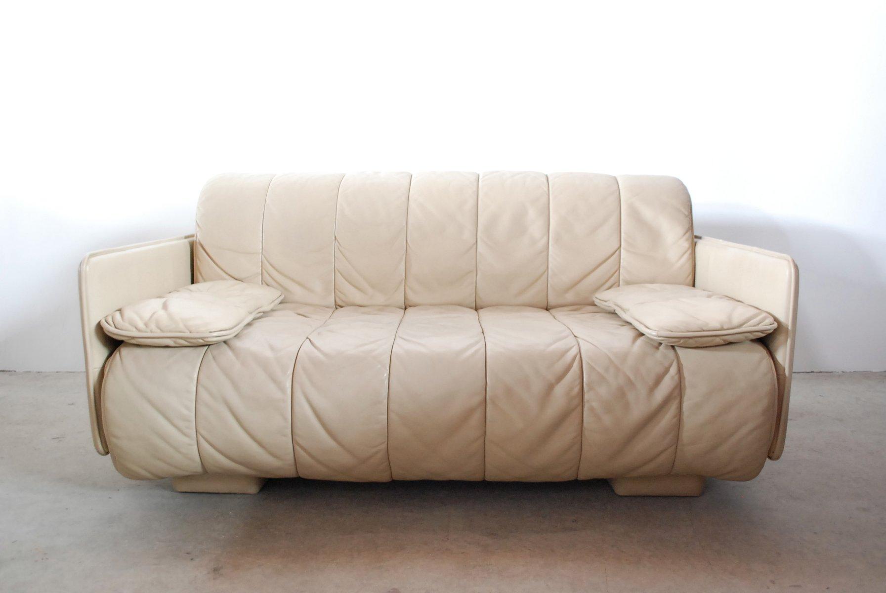 canap en cuir de de sede suisse 1980s en vente sur pamono. Black Bedroom Furniture Sets. Home Design Ideas