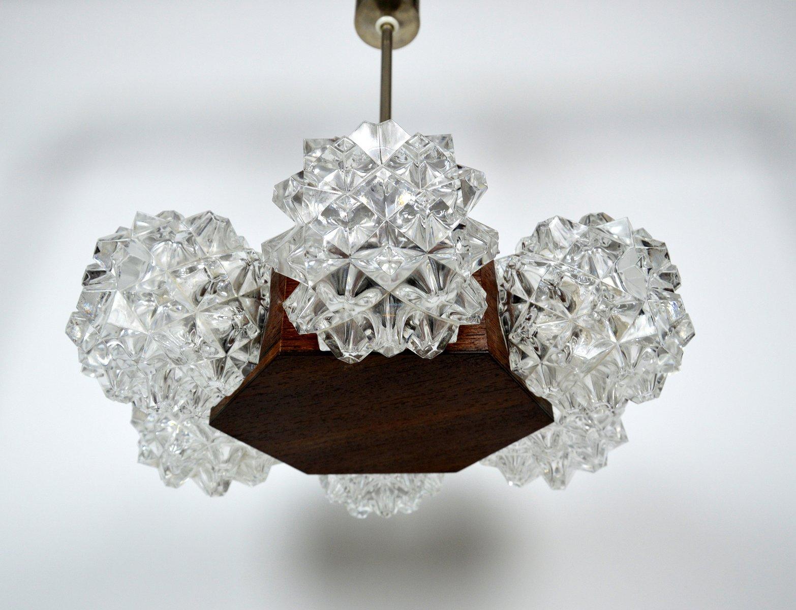 Deutsche Vintage Kristallglas Lampe, 1986