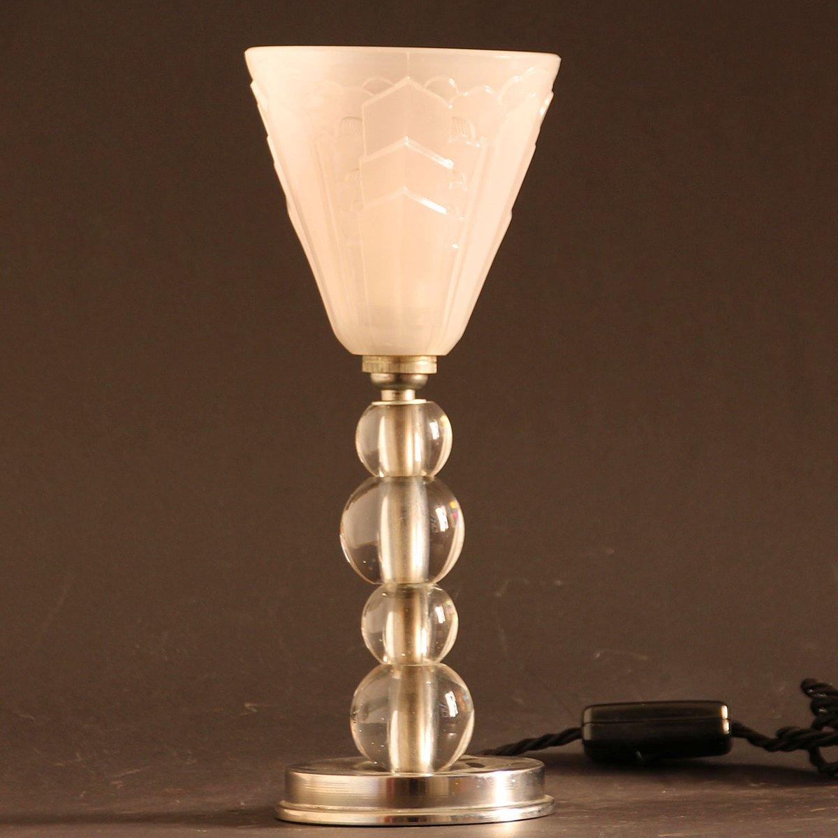 Französische Vintage Art Deco Tischlampe, 1930er