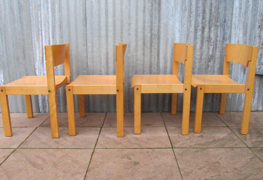 minimalistische skandinavische st hle 1970er 6er set bei pamono kaufen. Black Bedroom Furniture Sets. Home Design Ideas