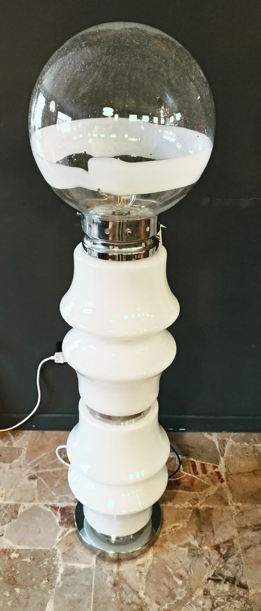 Mid-Century Space Age Murano Glas Stehlampe von Carlo Nason für Mazzeg...