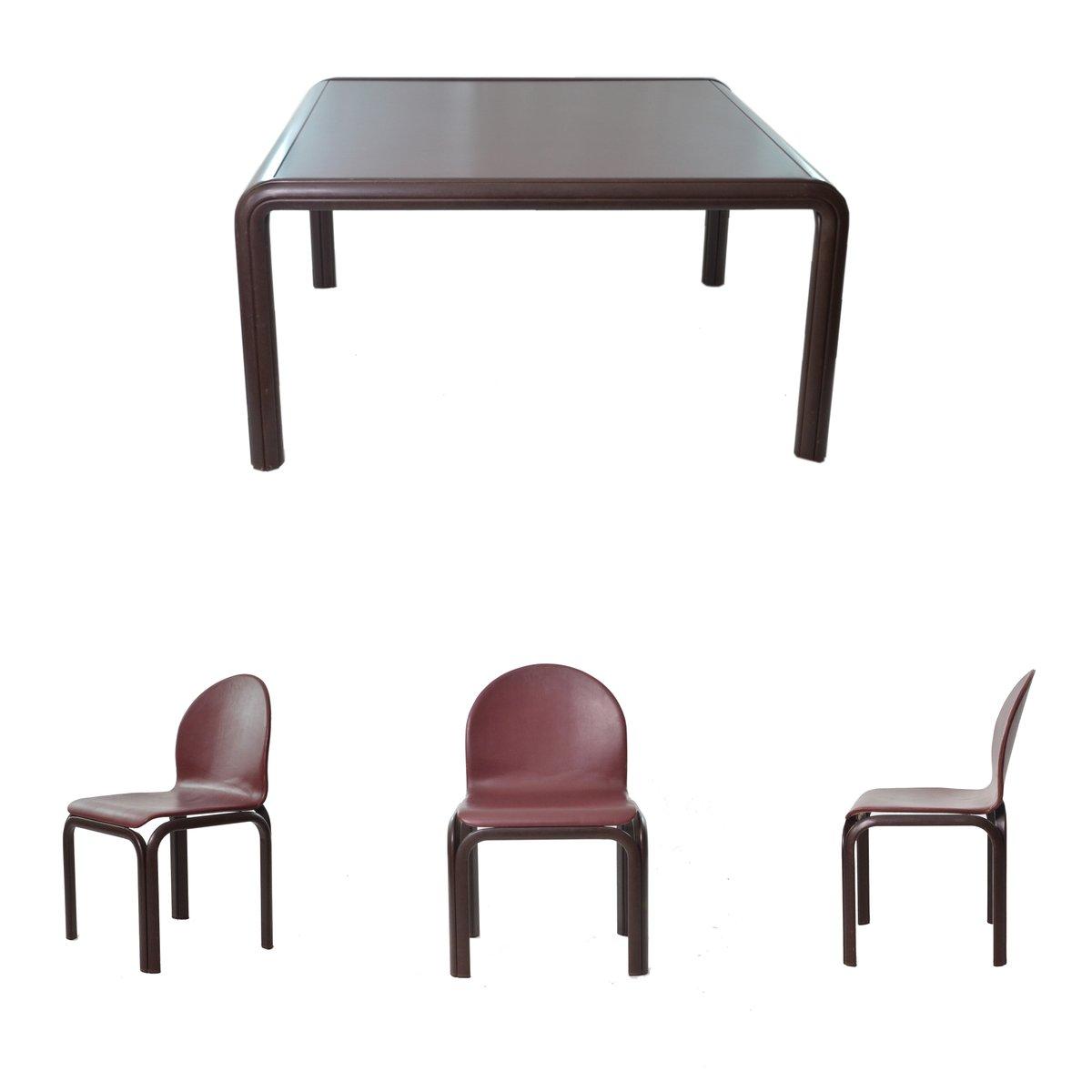 vintage tisch 4 st hle von gae aulenti f r knoll inc 1970er bei pamono kaufen. Black Bedroom Furniture Sets. Home Design Ideas