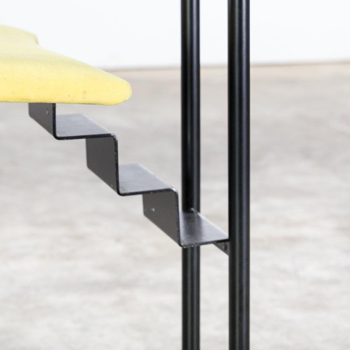 italienische st hle aus metall stoff 1980er 4er set bei pamono kaufen. Black Bedroom Furniture Sets. Home Design Ideas