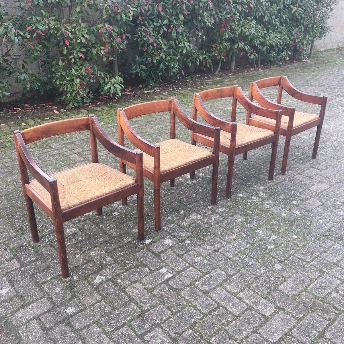 carimate esszimmer st hle von vico magistretti f r cassina 1960er 4er set bei pamono kaufen. Black Bedroom Furniture Sets. Home Design Ideas