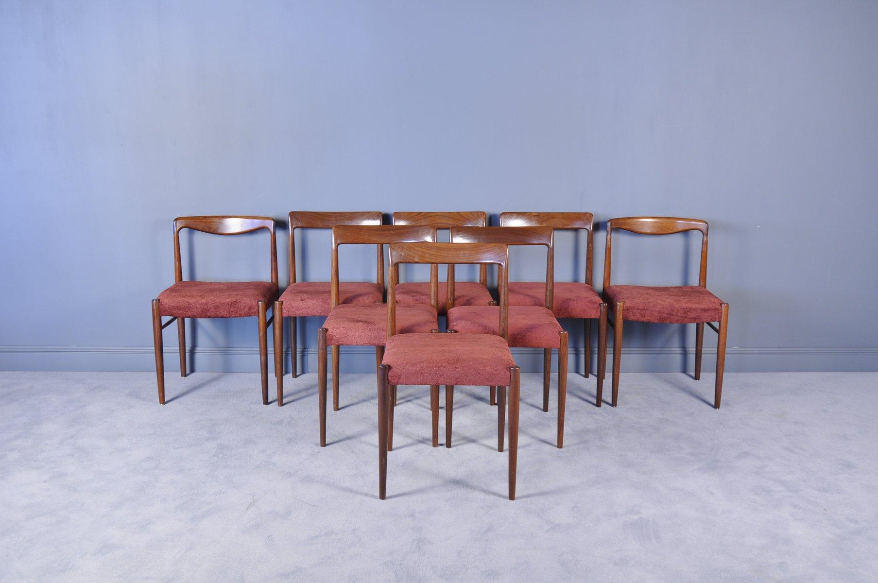 palisander esszimmer st hle von l bke 1960er 8er set bei pamono kaufen. Black Bedroom Furniture Sets. Home Design Ideas