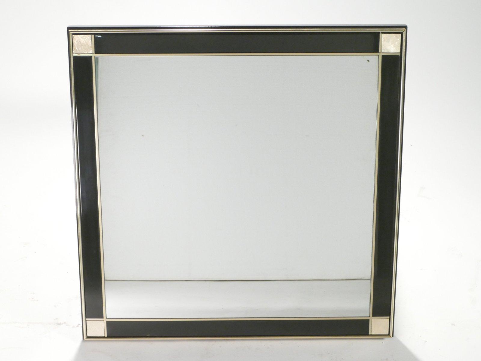 spiegel mit rahmen aus lackiertem messing 1975 bei pamono kaufen. Black Bedroom Furniture Sets. Home Design Ideas