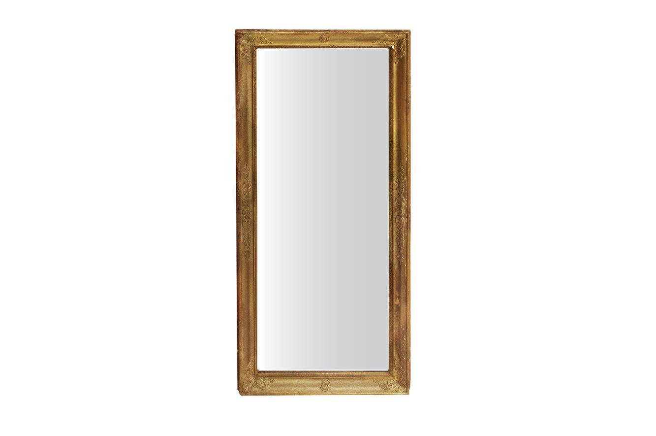 Antiker rechteckiger spiegel mit vergoldetem rahmen bei pamono kaufen - Spiegel mit rahmen ...