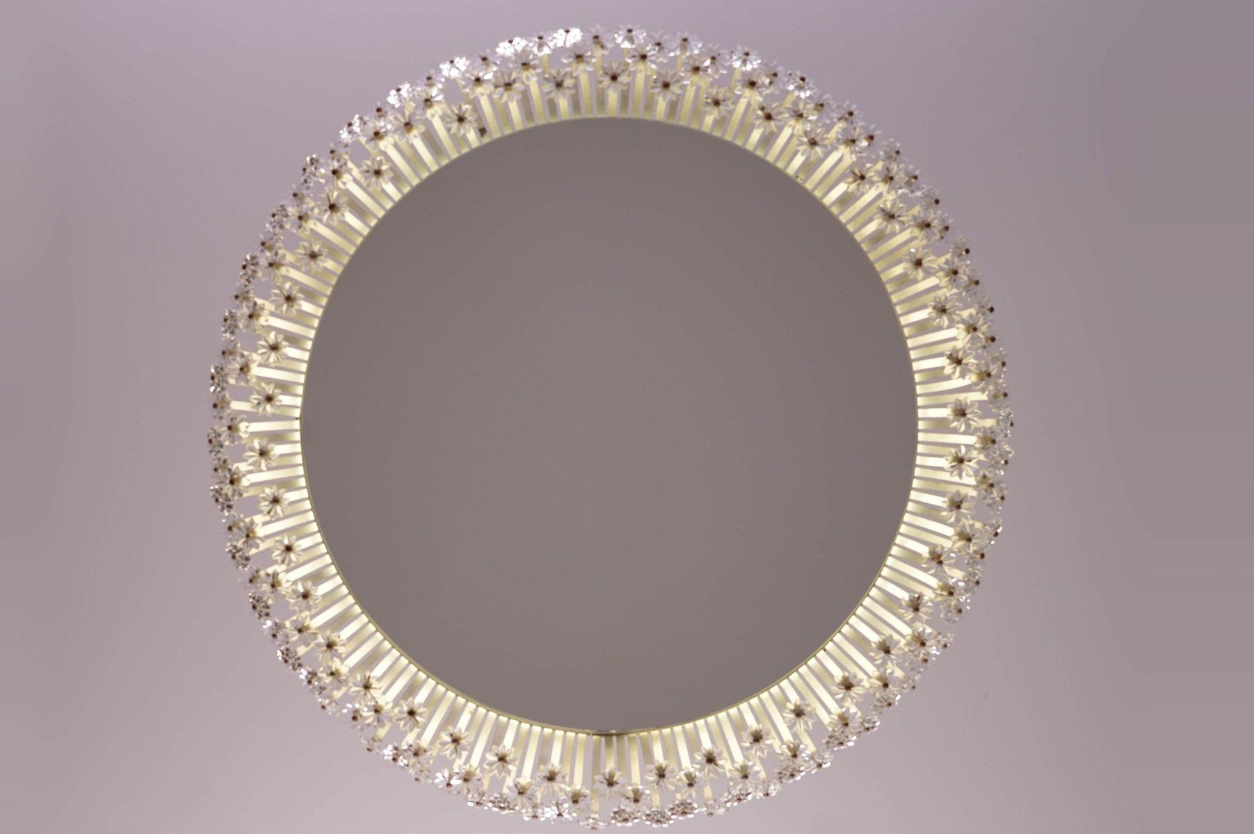 gro er runder beleuchteter spiegel von emil stejnar f r. Black Bedroom Furniture Sets. Home Design Ideas