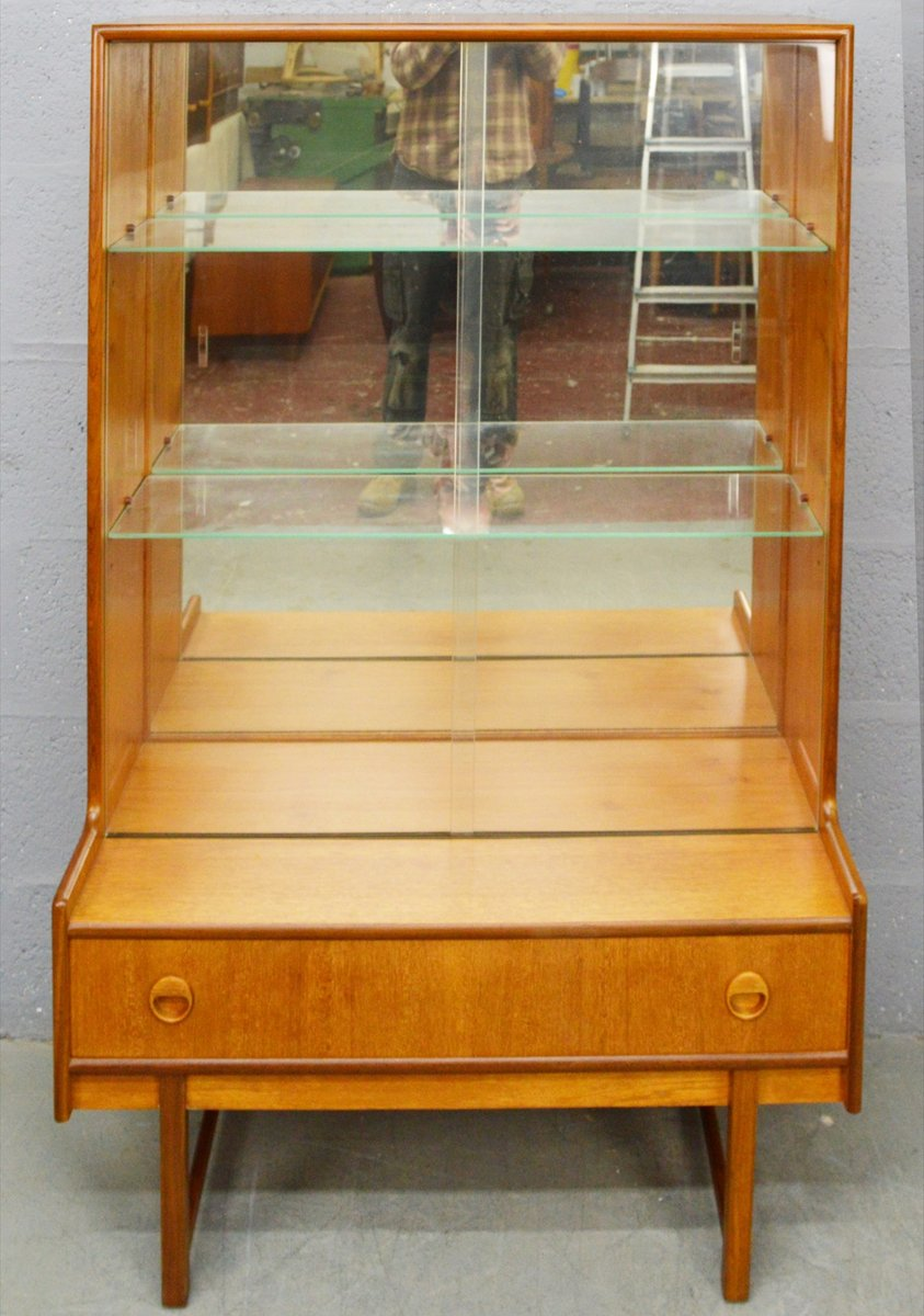 Mid-Century Teak and Glass Display Cabinet from Turnidge for sale at ...