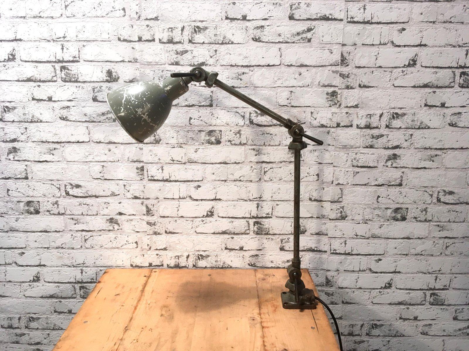 Industrielle Vintage Tischlampe, 1930er