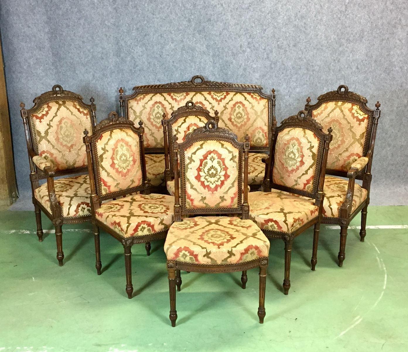 Vintage Wohnzimmer Set Im Louis XVI Stil