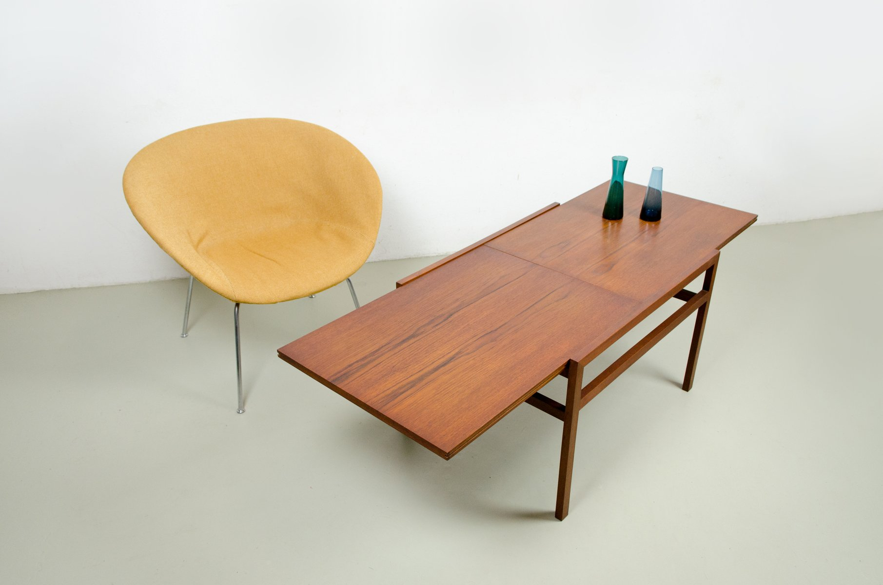 extendable coffee table from wilhelm renz 1960s for sale. Black Bedroom Furniture Sets. Home Design Ideas