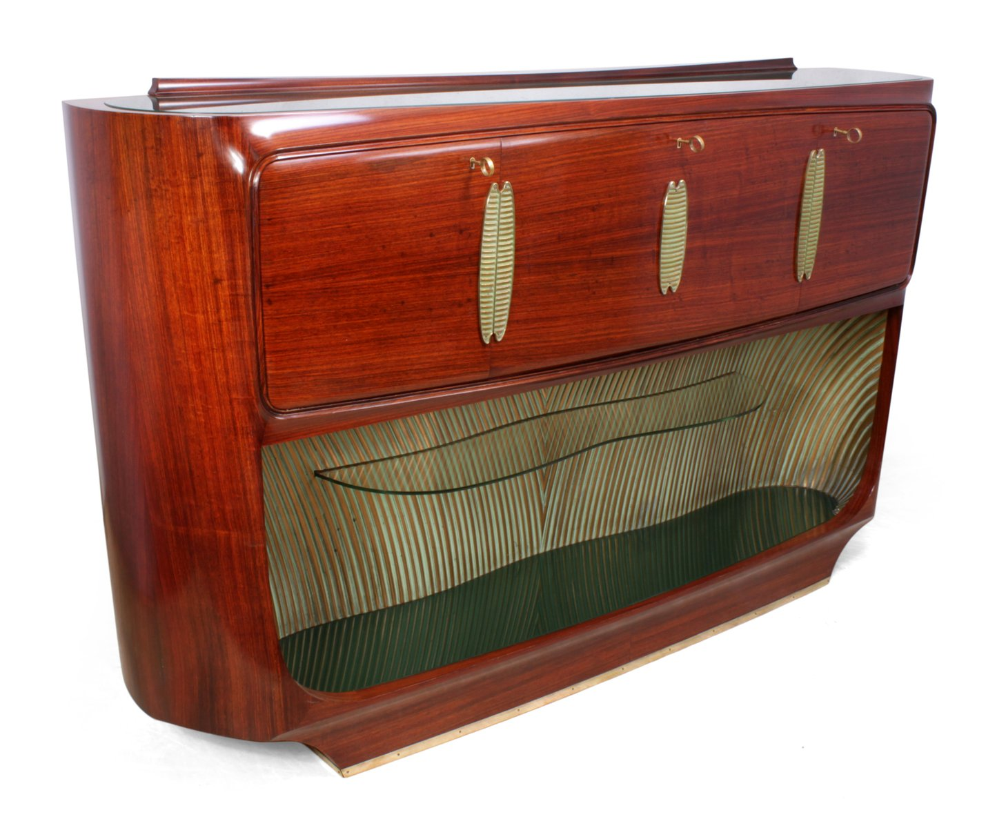 mid century palisander cocktail sideboard von vittorio dassi f r conzorzio esposizione mobili. Black Bedroom Furniture Sets. Home Design Ideas