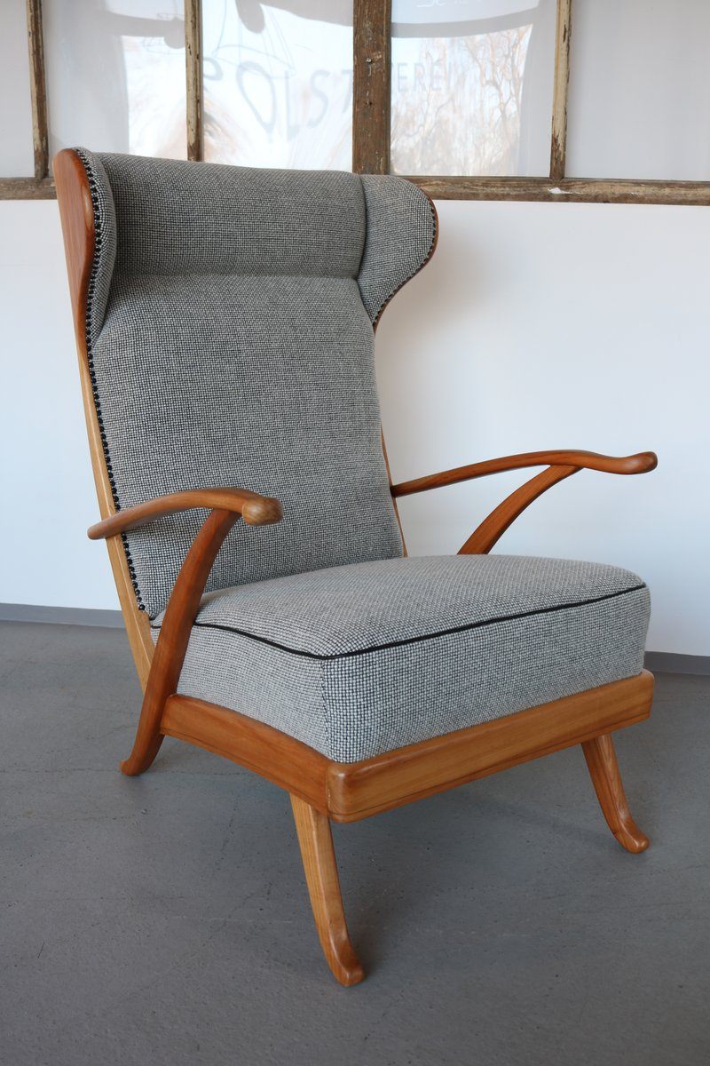 fauteuil oreilles par karl nothhelfer pour sch rle g lz 1950s en vente sur pamono. Black Bedroom Furniture Sets. Home Design Ideas