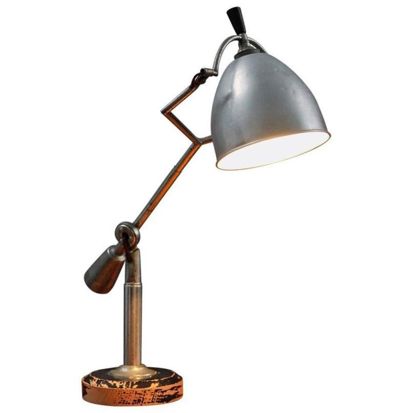 Tischlampe von Edouard Wilfred Buquet für SGDG Paris, 1927