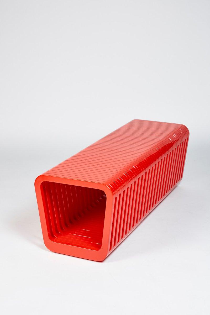 Lange Link Bank oder Couchtisch in Iconic Rot von Reda Amalou
