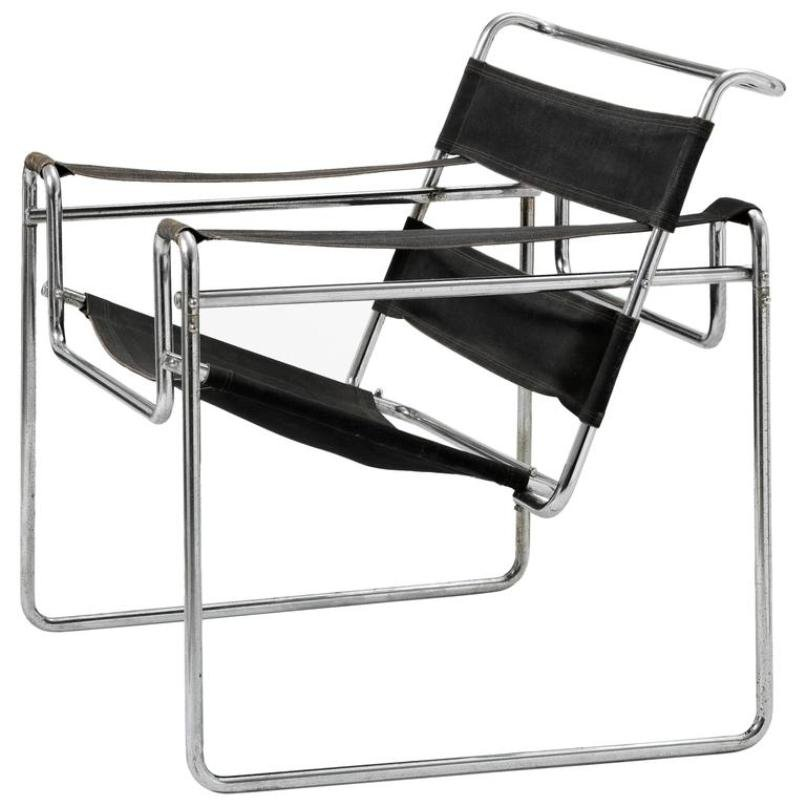 vintage model b3 wassily chair by marcel breuer for thonet mundus for sale at pamono. Black Bedroom Furniture Sets. Home Design Ideas