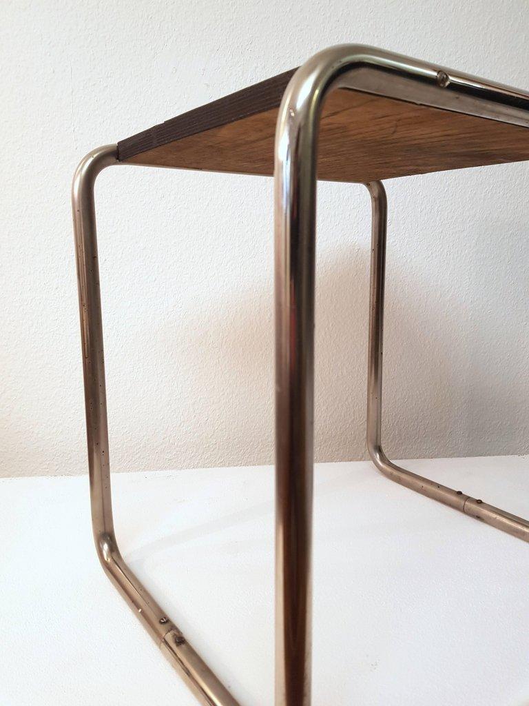 mid century bauhaus b9 tisch von marcel breuer f r. Black Bedroom Furniture Sets. Home Design Ideas
