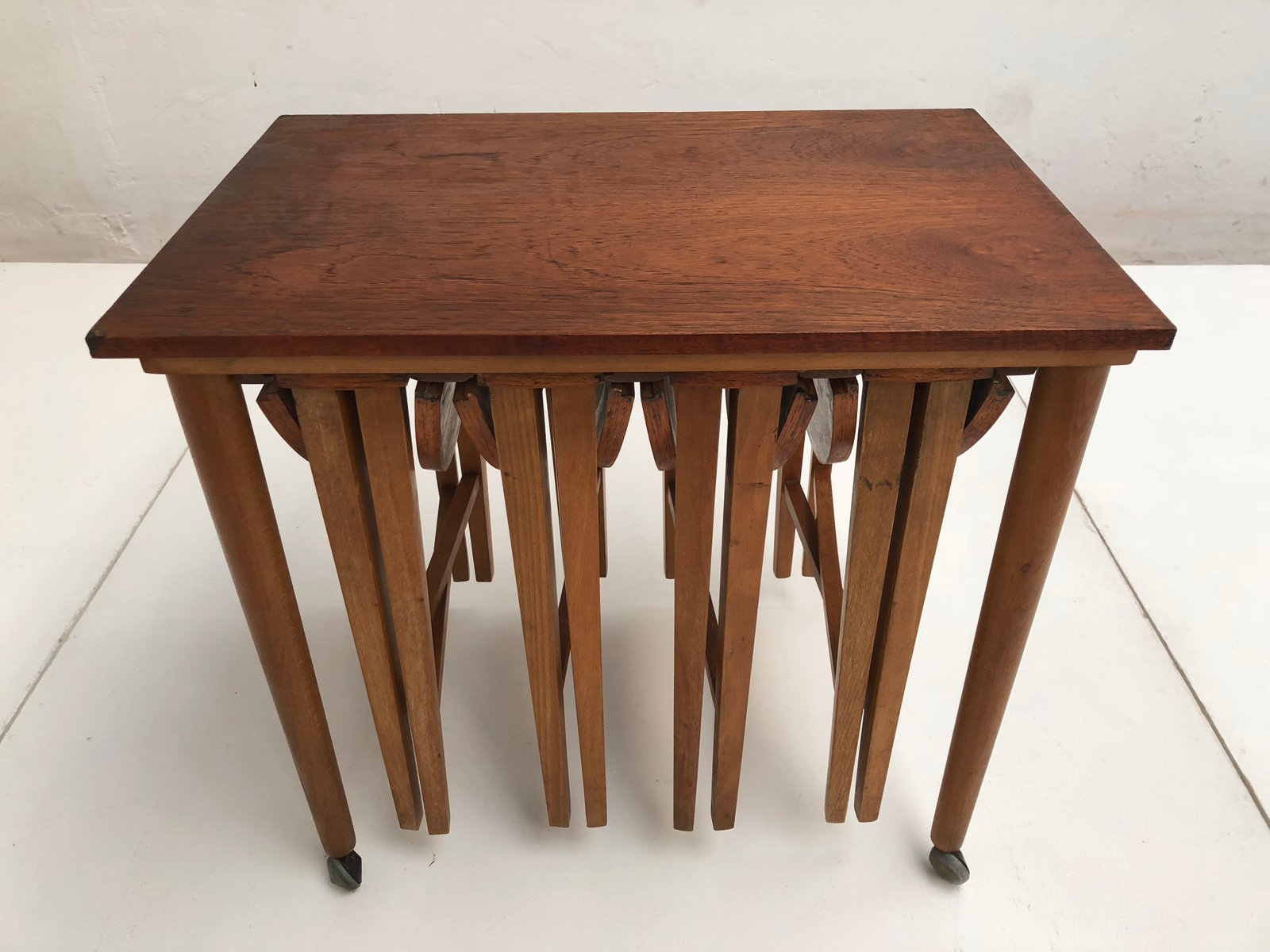 Danish Vintage Teak Drop Leaf Nesting Tables 1960s 19 736 00