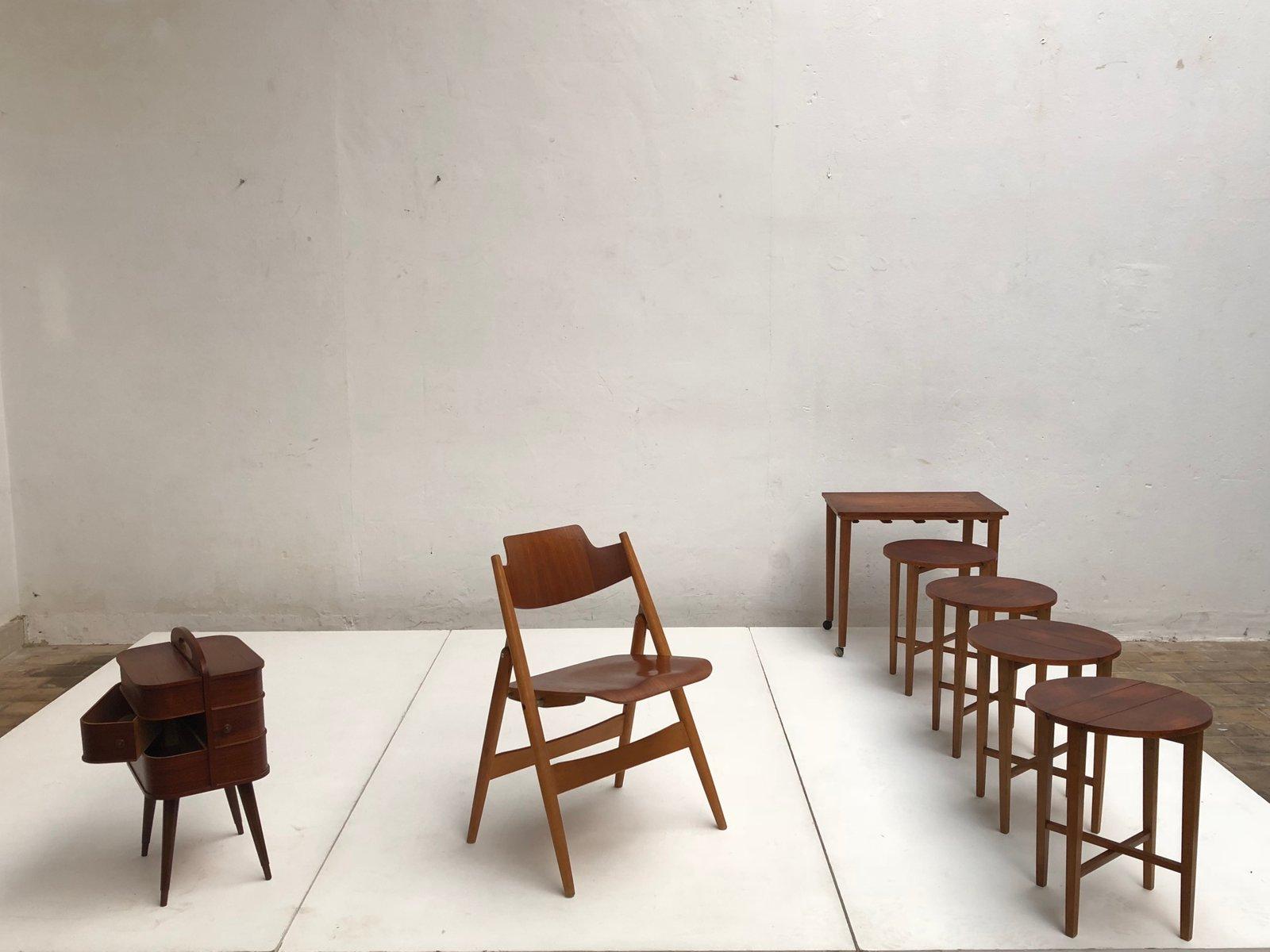 se18 klappstuhl von egon eiermann f r wilde spieth 1950er bei pamono kaufen. Black Bedroom Furniture Sets. Home Design Ideas