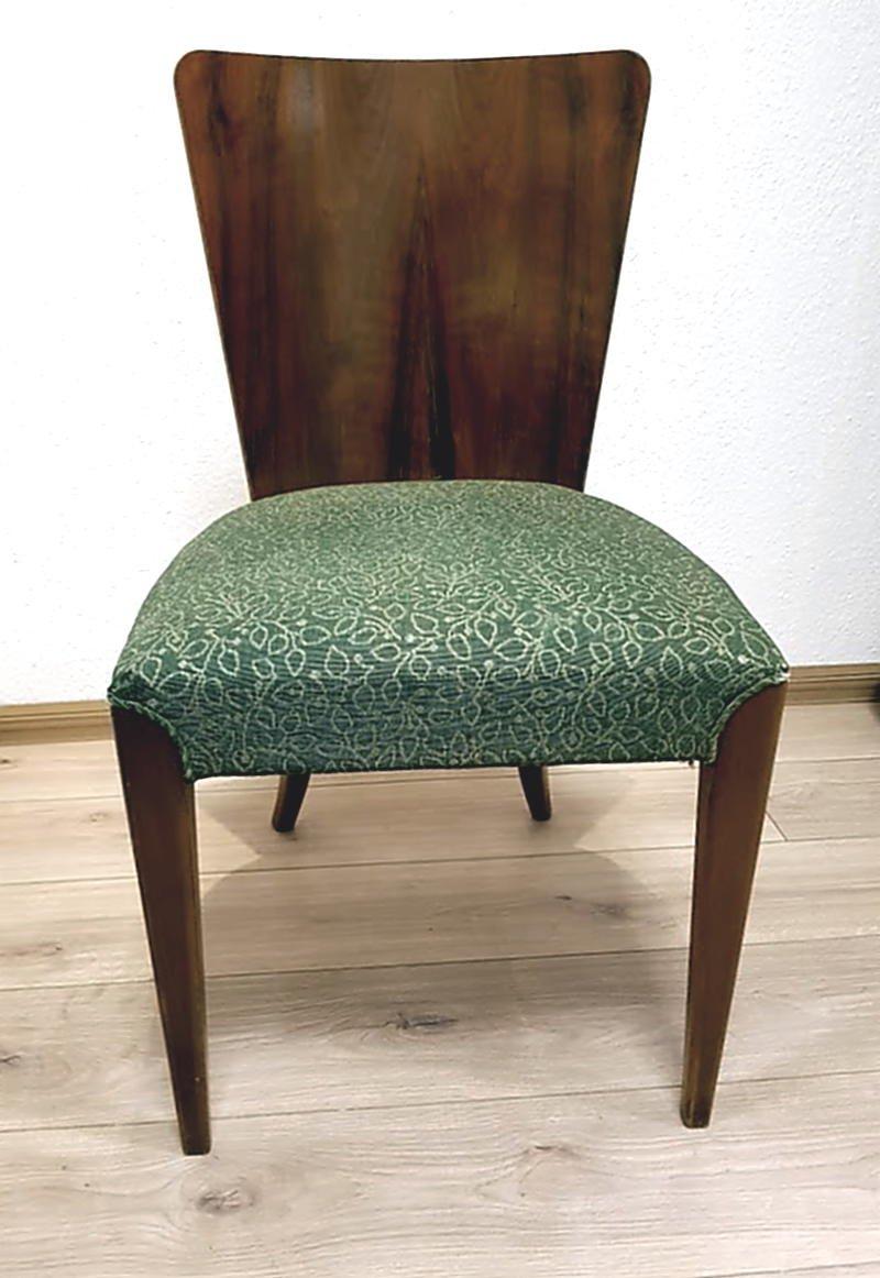 art deco h 214 esstisch mit 4 st hlen von jindrich halabala 1930er bei pamono kaufen. Black Bedroom Furniture Sets. Home Design Ideas