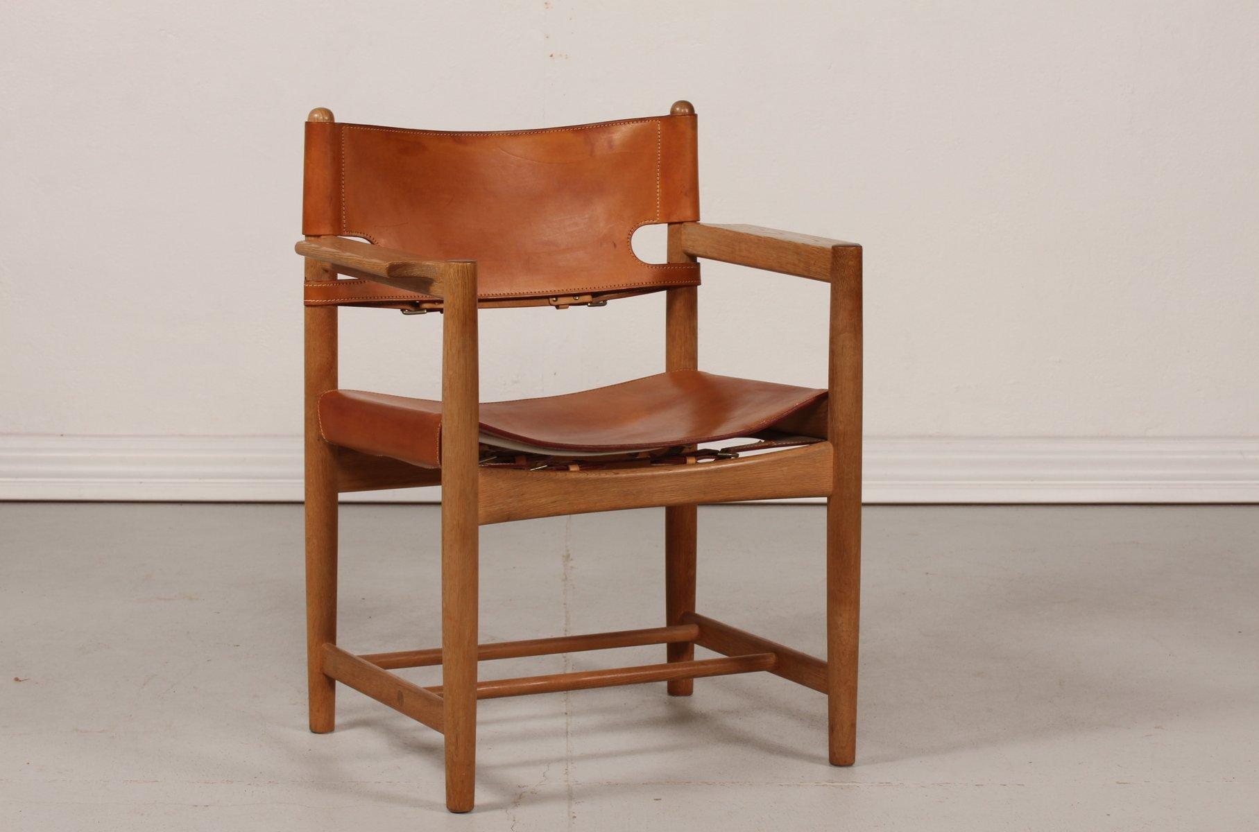 d nischer leder eiche 3238 stuhl von b rge mogensen f r. Black Bedroom Furniture Sets. Home Design Ideas