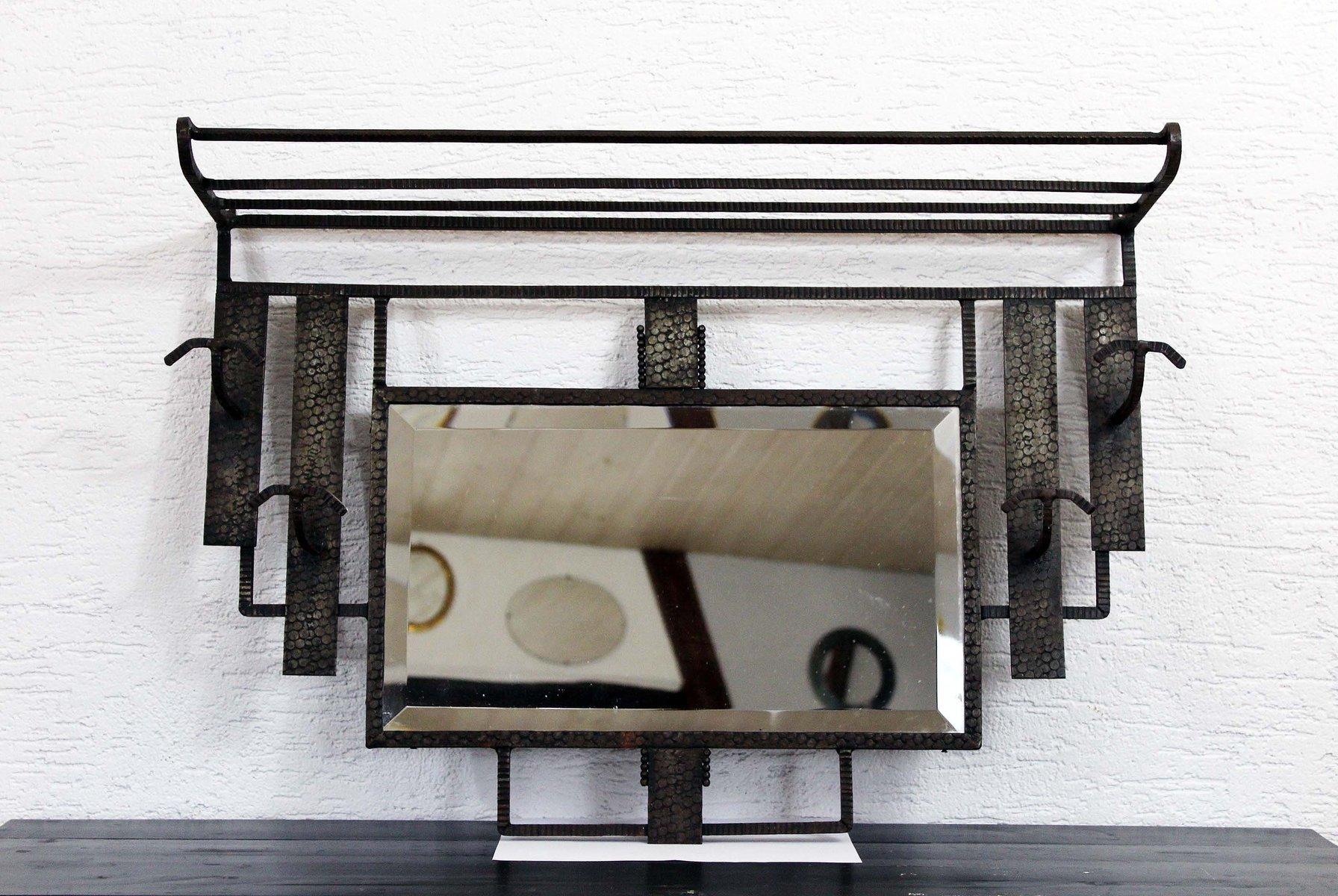 Attaccapanni vintage art deco in ferro battuto in vendita su pamono