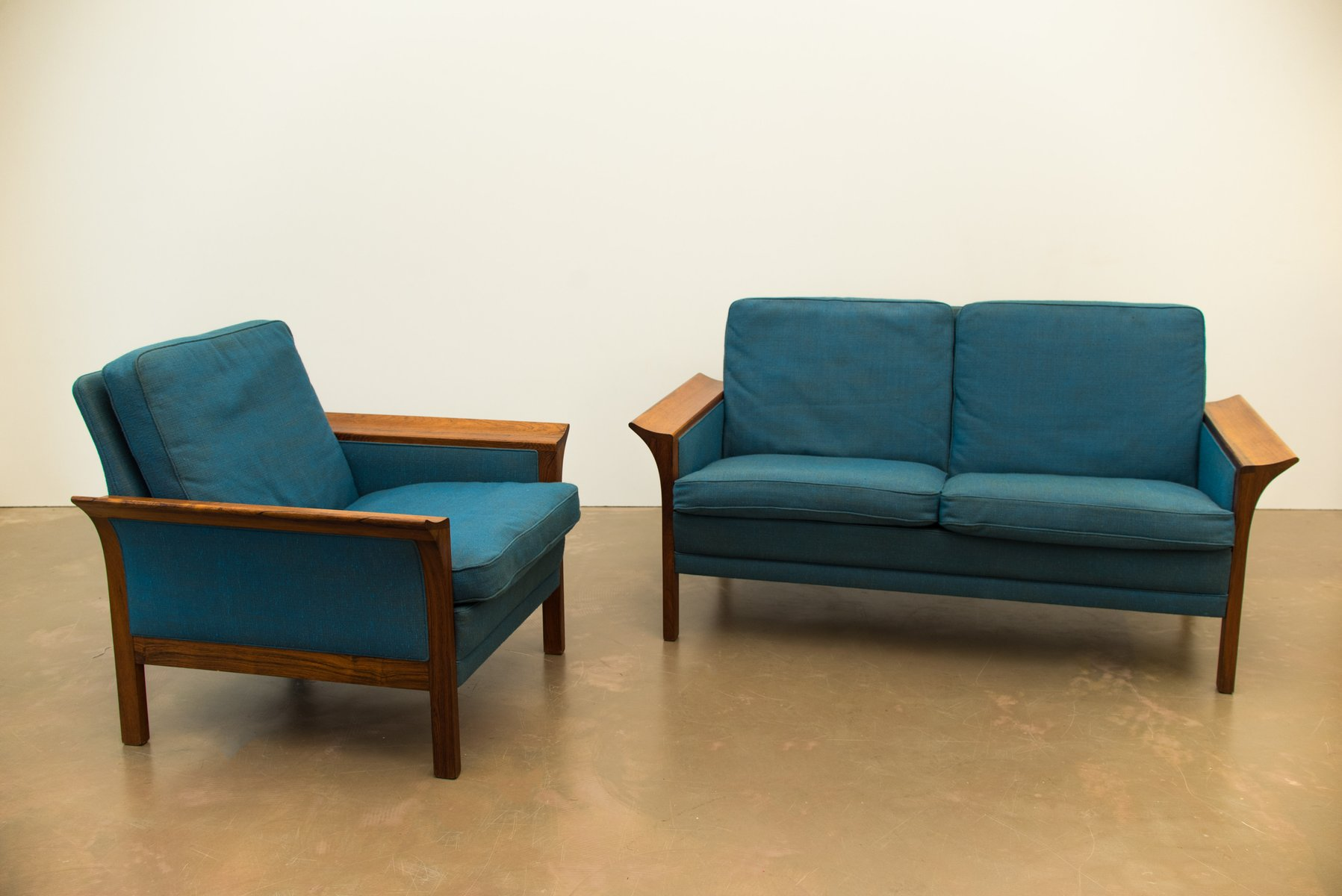 Danish Rosewood Sofa Armchair Set 1964
