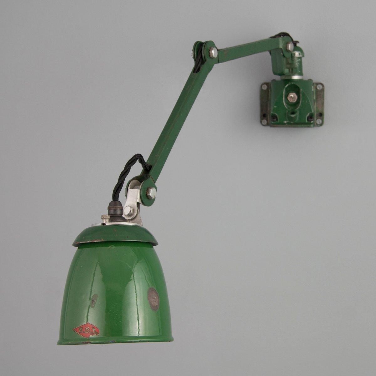Britische Industrielle V1 Wandlampe von E.D.L., 1930er