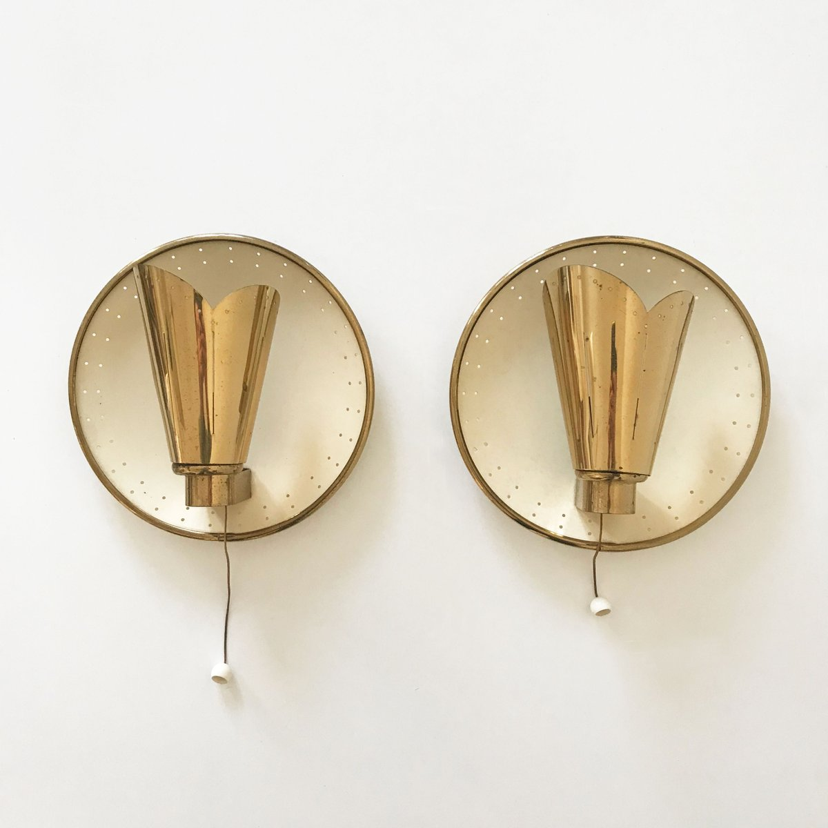 Mid Century Wall Lights Uk: Mid-Century Modern Wall Lights By Jacques Biny, Set Of 2