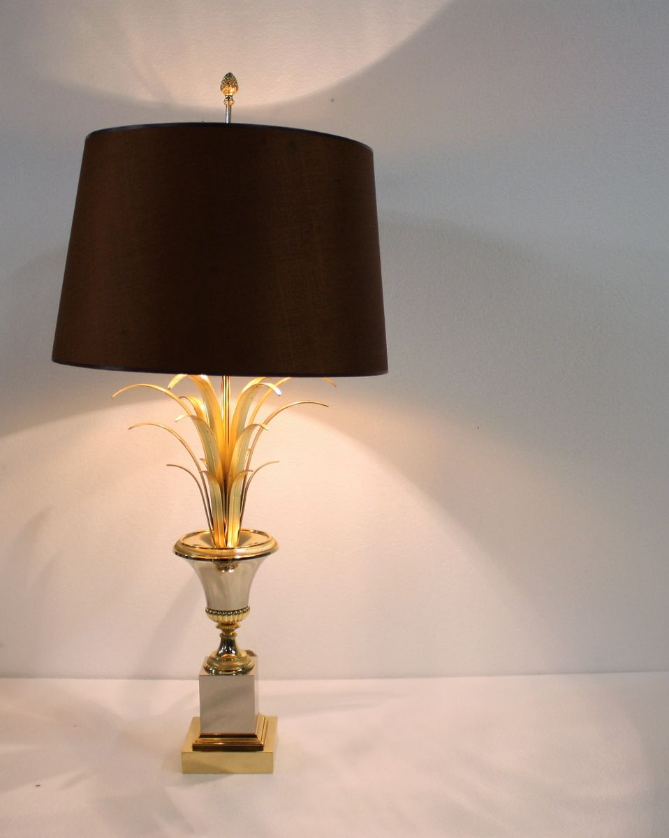 Brass pineapple leaf table lamp from boulanger 1960s for sale at pamono price per piece aloadofball Image collections
