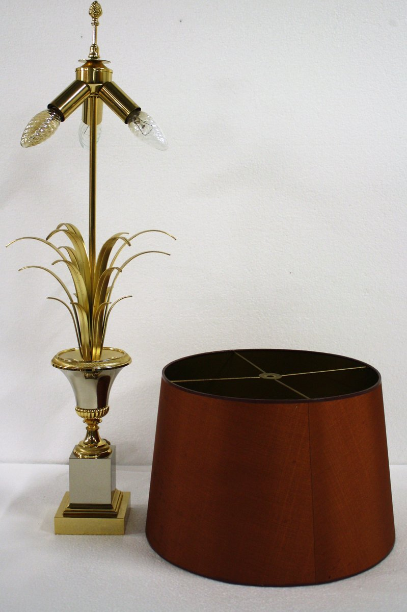 Brass Pineapple Leaf Table Lamp From Boulanger 1960s For Sale At Pamono