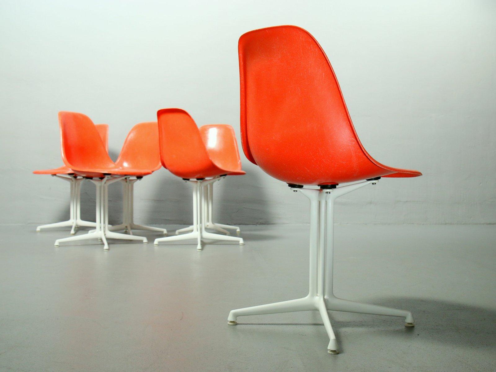 la fonda st hle von charles ray eames f r vitra 1950er 4er set bei pamono kaufen. Black Bedroom Furniture Sets. Home Design Ideas
