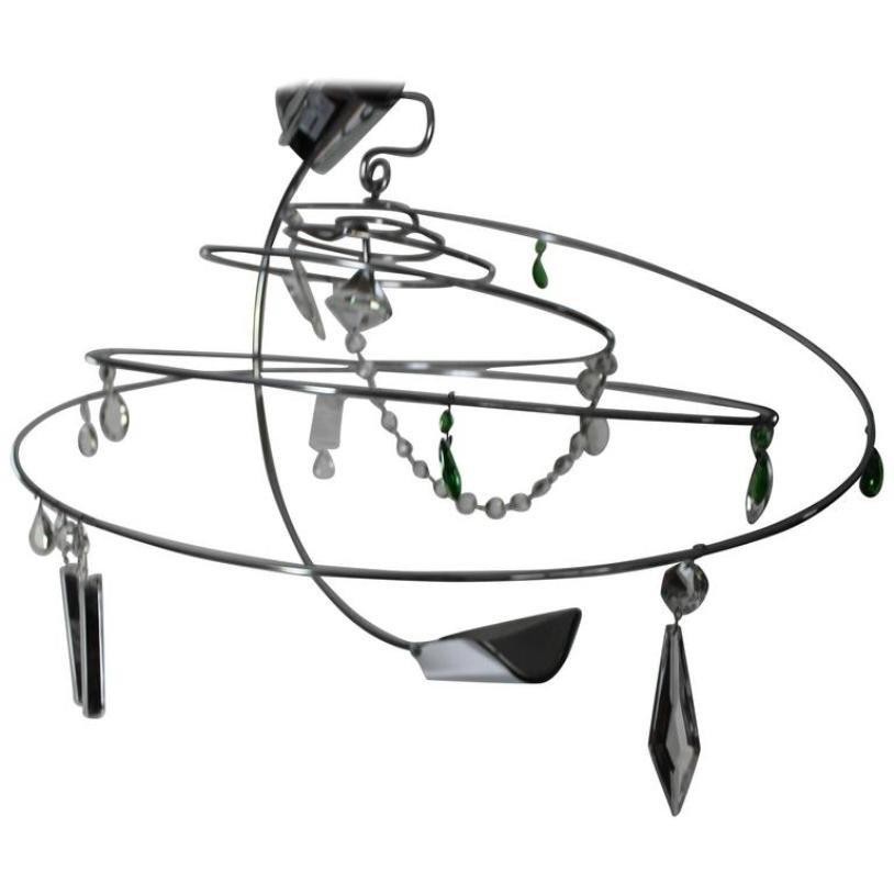 Spiralförmiger Vintage Ilione Kronleuchter von Toni Cordero di Monteze...