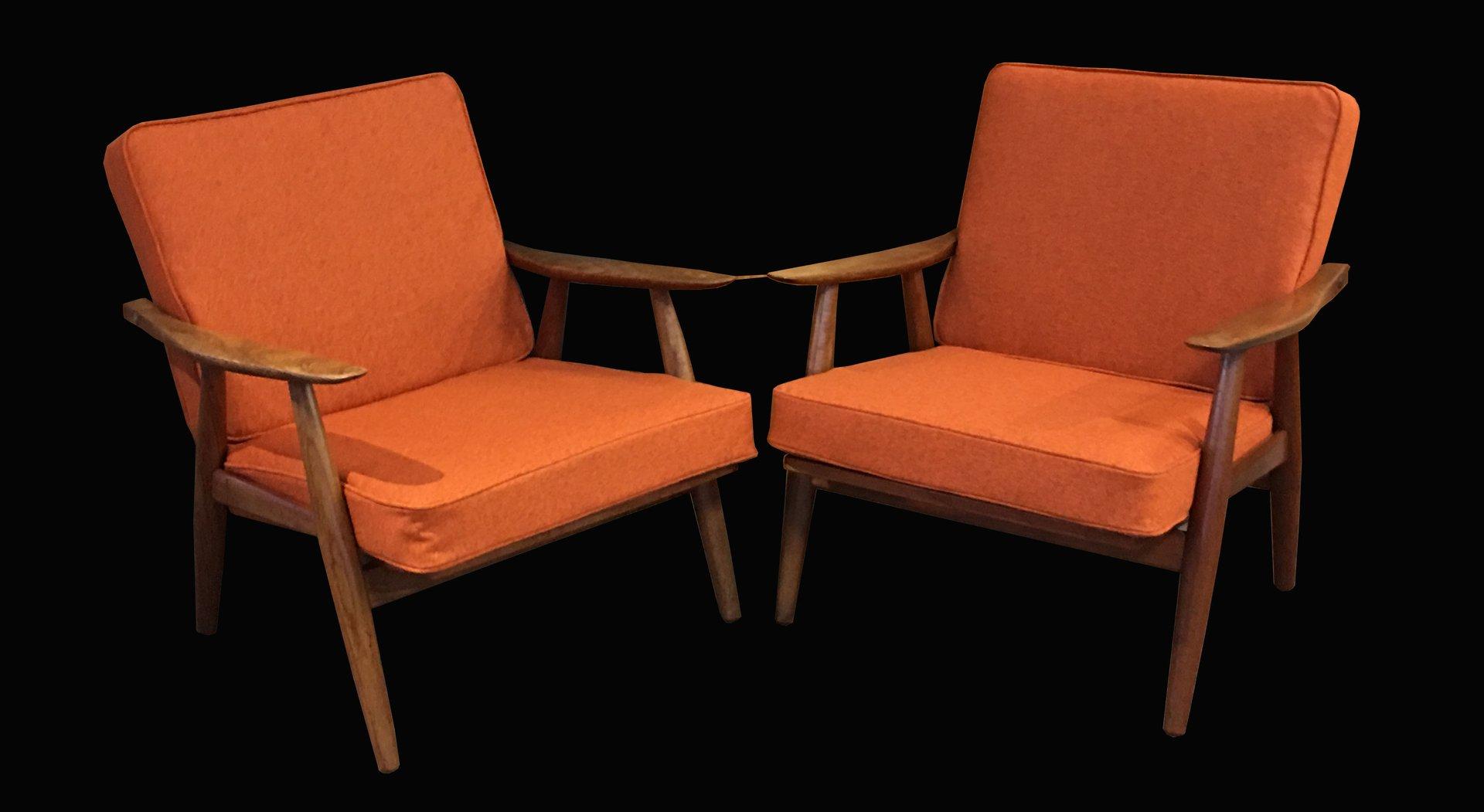 GE270 Armlehnstühle von Hans J. Wegner für Getama, 1960er, 2er Set