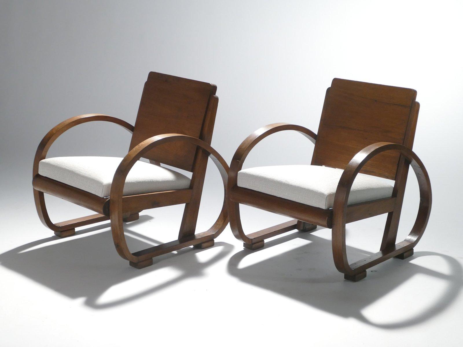 moderne sessel von michel dufet 1940er 2er set bei pamono kaufen. Black Bedroom Furniture Sets. Home Design Ideas