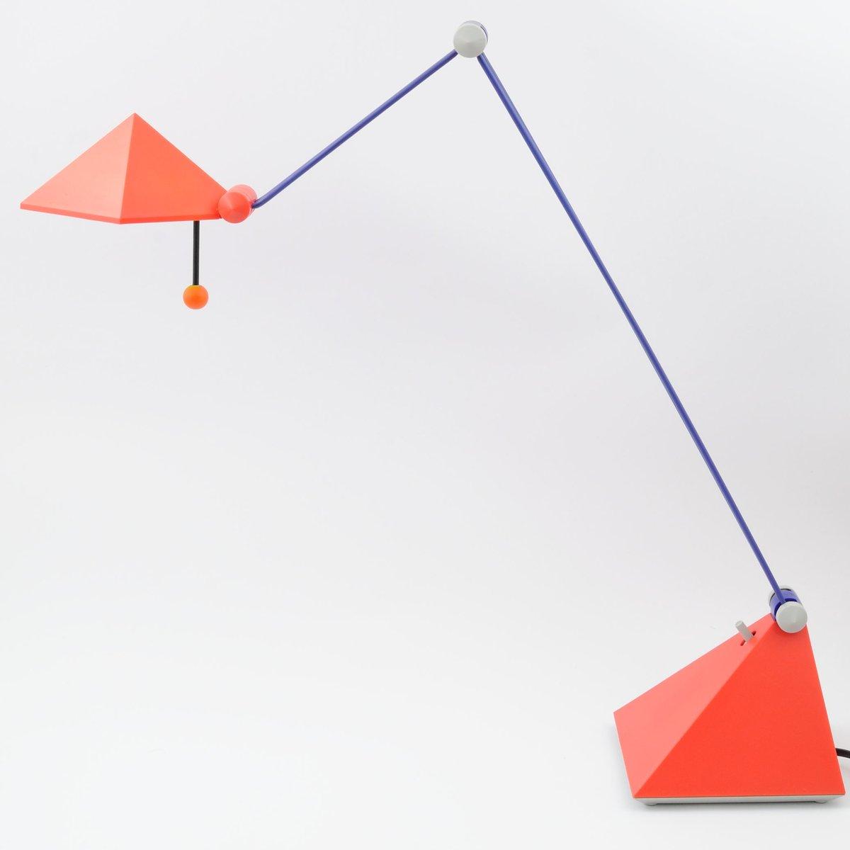 Bunte Schreibtischlampe von Lungean & Pellmann für Brilliant, 1980er