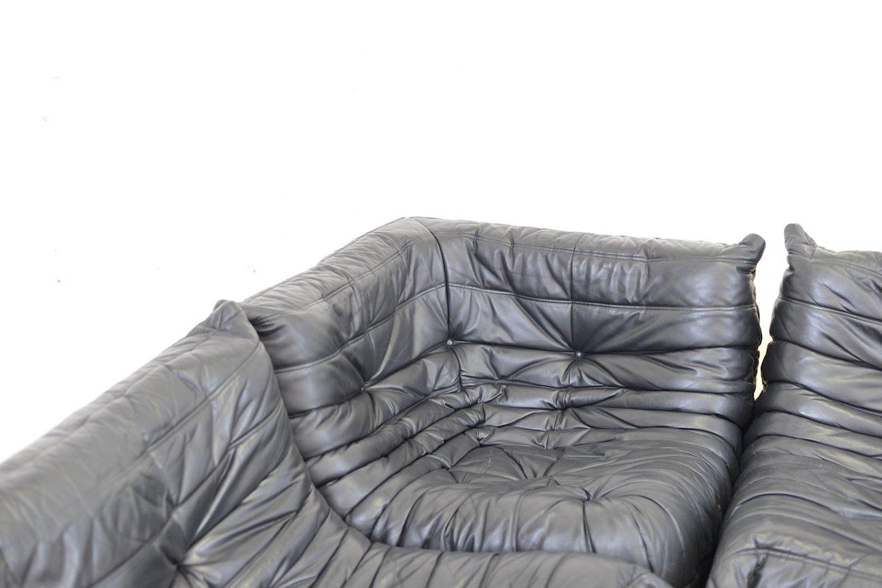 set de canap togo en cuir par michel ducaroy pour ligne roset 1973 en vente sur pamono. Black Bedroom Furniture Sets. Home Design Ideas