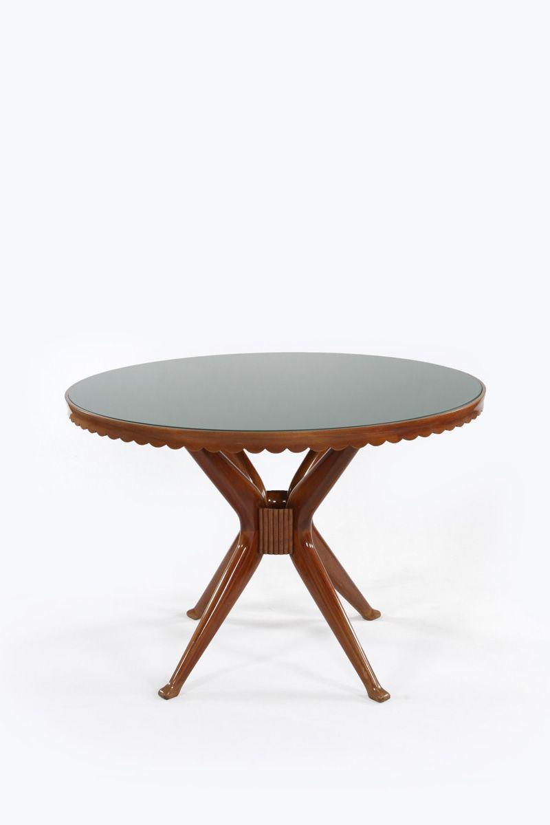Italienischer Tisch aus Mahagoni, 1950er