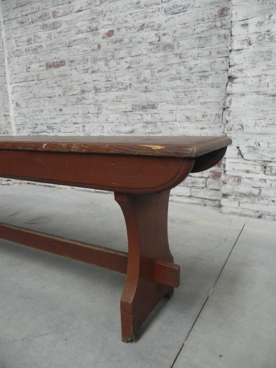 lange vintage bank aus holz bei pamono kaufen. Black Bedroom Furniture Sets. Home Design Ideas