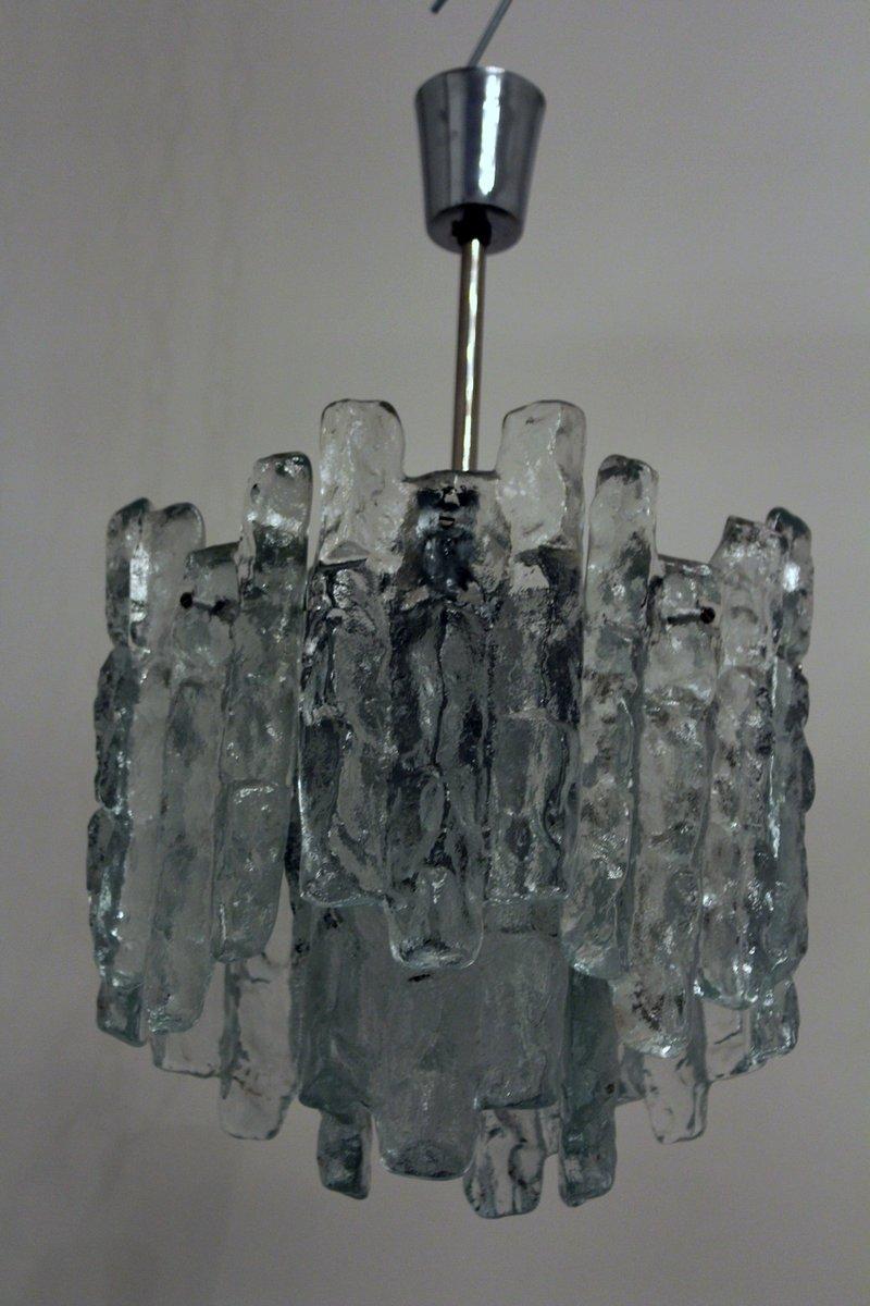 Glas Kronleuchter von Kalmar, 1960er