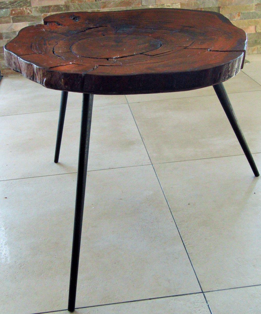 table basse en tronc d 39 arbre 1950s en vente sur pamono. Black Bedroom Furniture Sets. Home Design Ideas