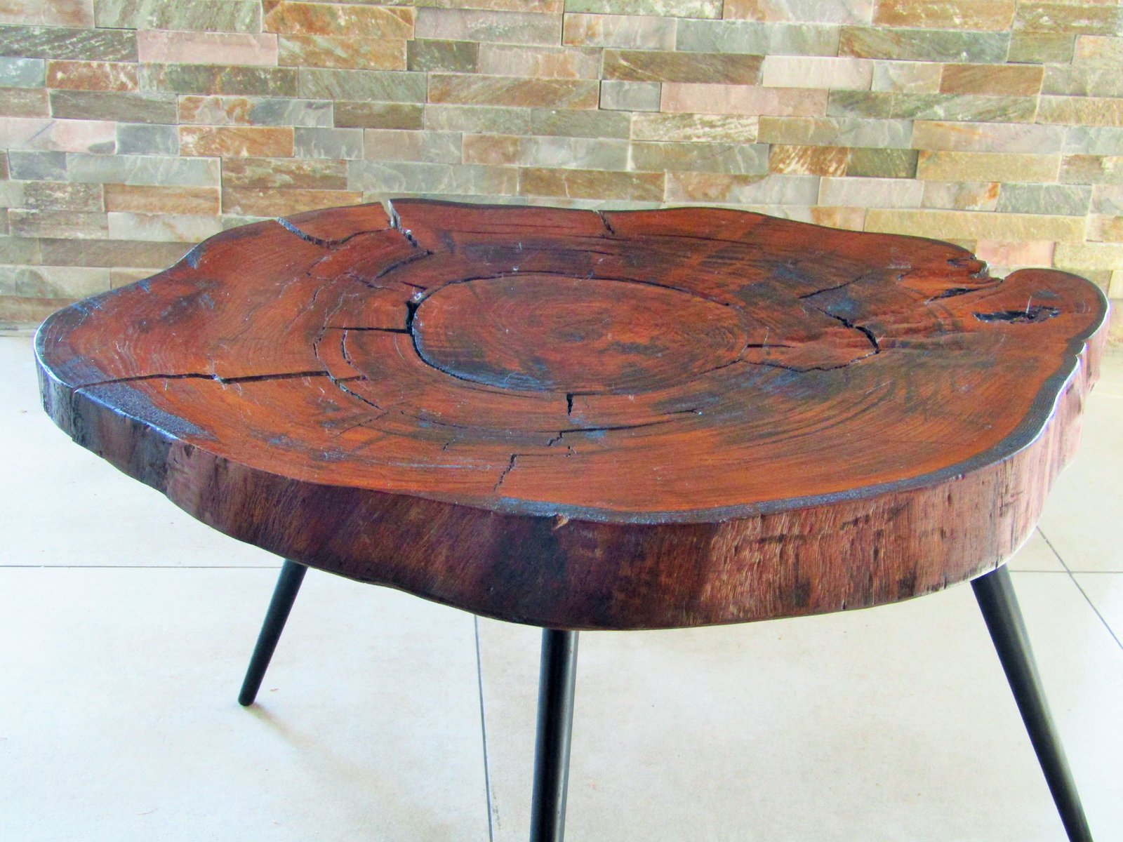 Tree trunk coffee table 1950s 12 1864 00 price per piece