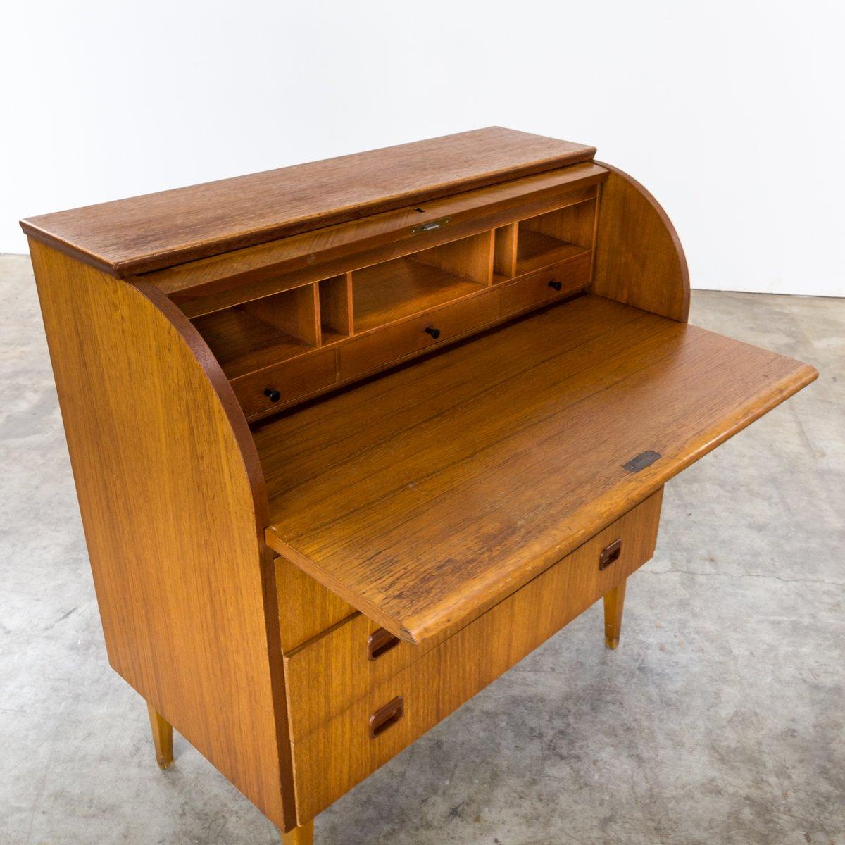 mid century zylinder sekret r von egon ostergaard bei pamono kaufen. Black Bedroom Furniture Sets. Home Design Ideas