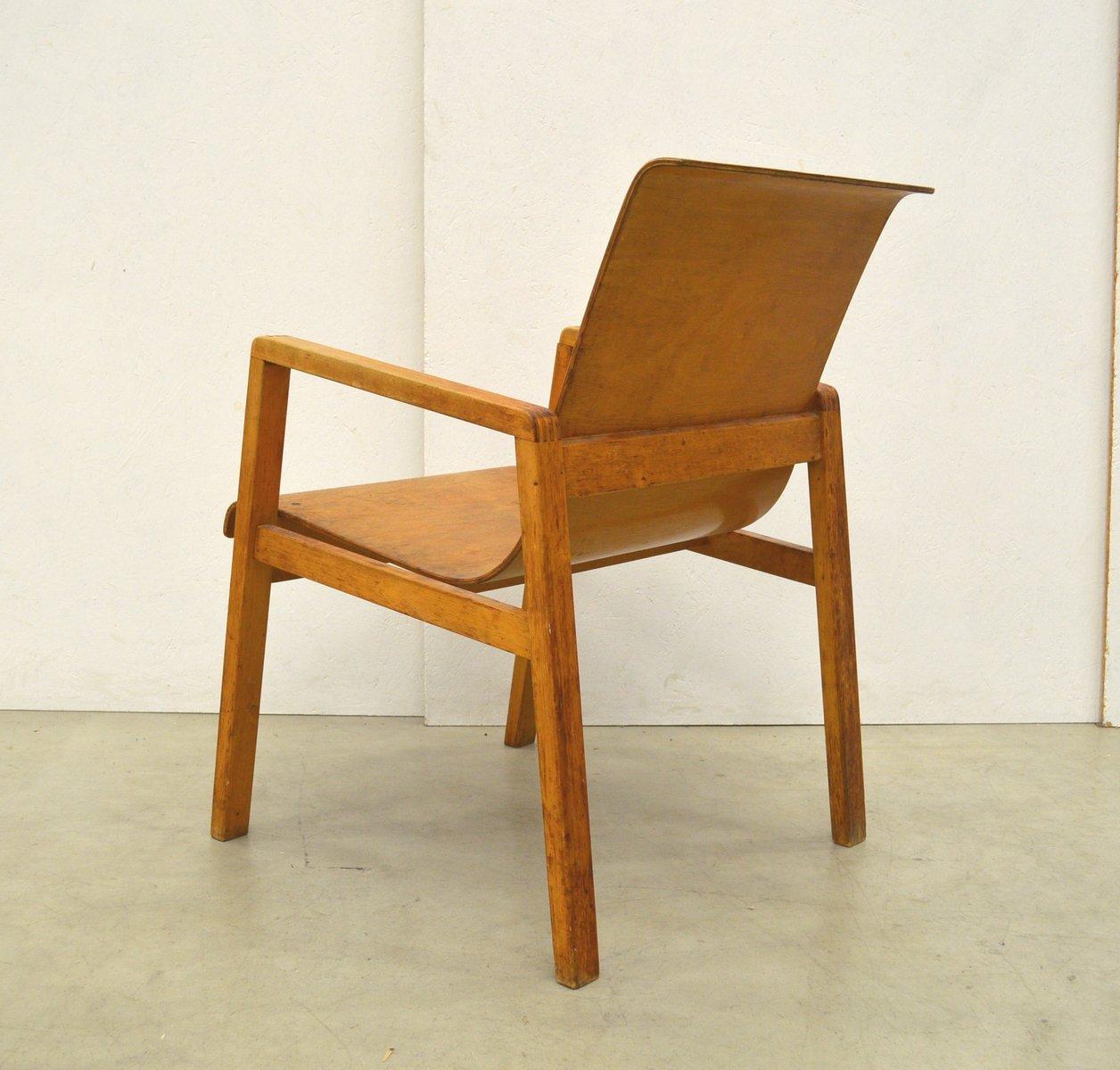 birkenholz 403 stuhl von alvar aalto f r huonekalu ja rakennusty te 1930er bei pamono kaufen. Black Bedroom Furniture Sets. Home Design Ideas