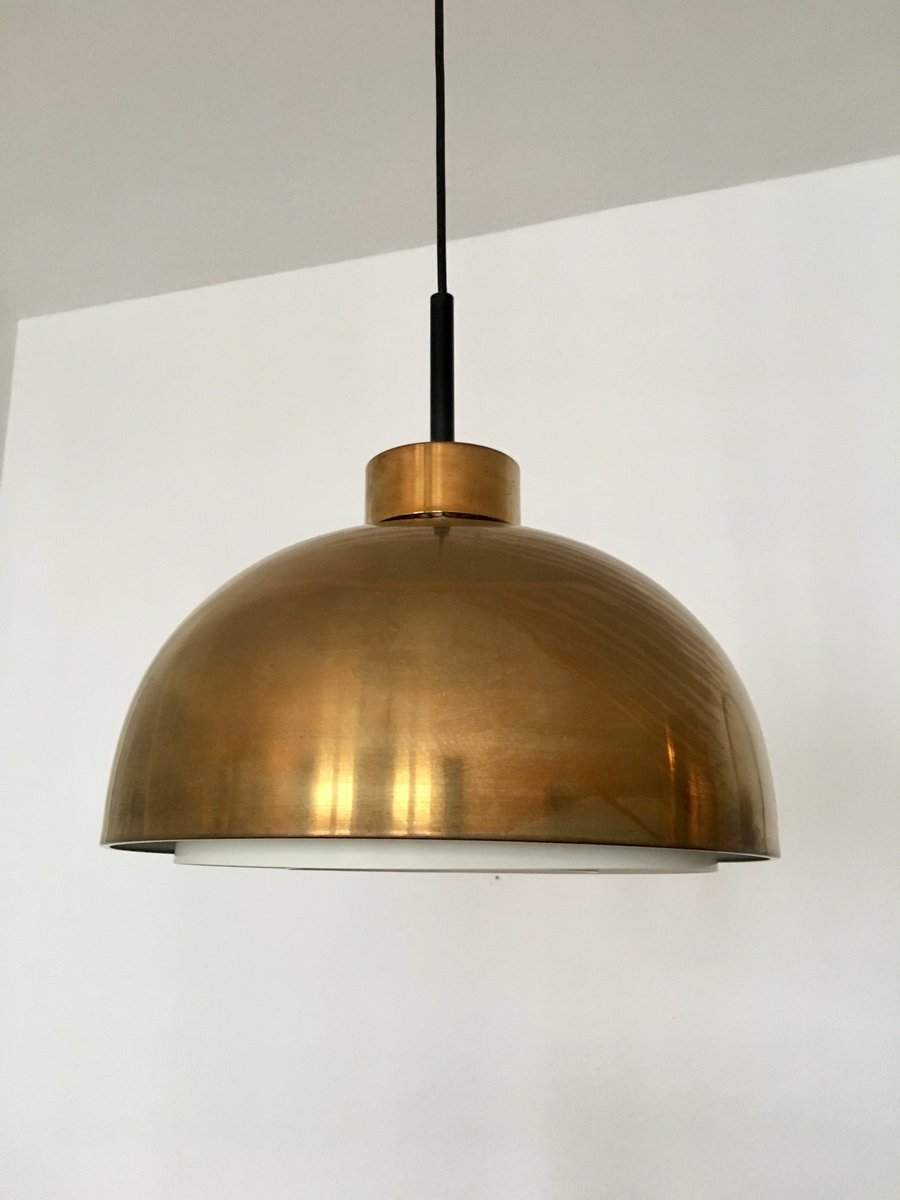 mid century brass pendant lamp from doria 1960s for sale at pamono. Black Bedroom Furniture Sets. Home Design Ideas