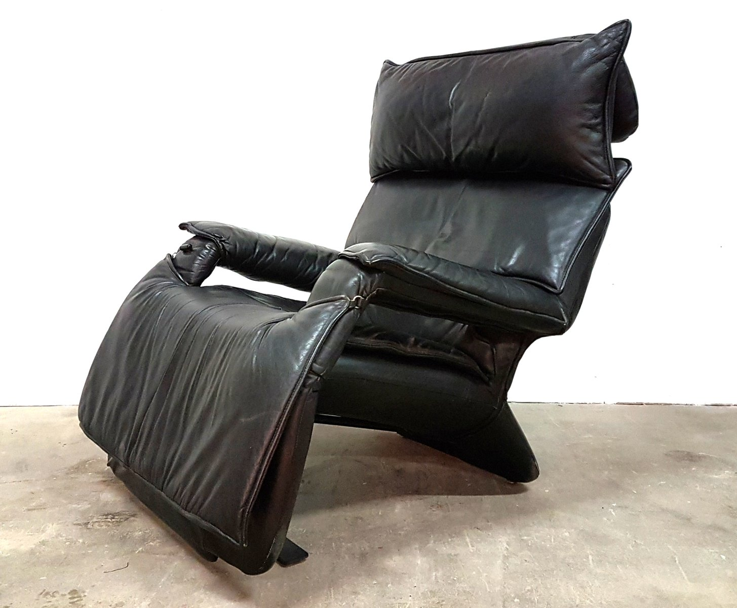 Model Pony Leather Reclining Lounge Chair By Percival Lafer, 1980s