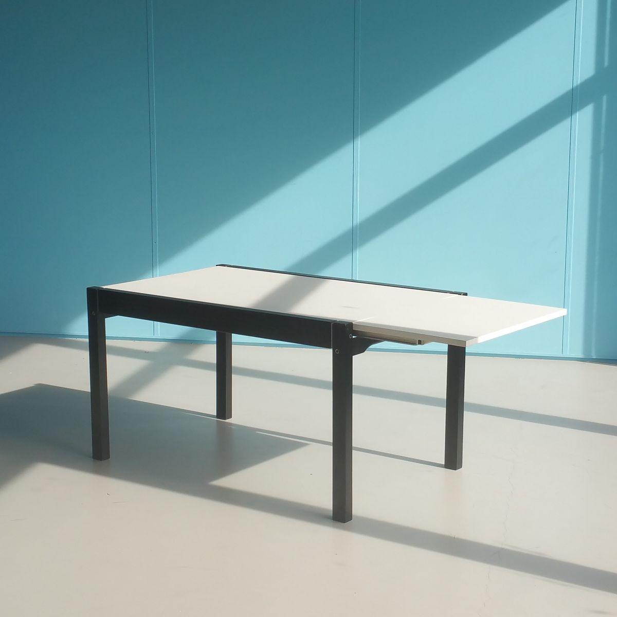 ausziehbarer esstisch von cees braakman f r pastoe 1970er bei pamono kaufen. Black Bedroom Furniture Sets. Home Design Ideas