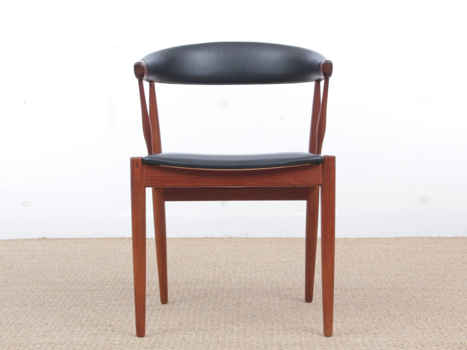vintage scandinavian armchair in teak and skai from brodrene andersen mobelsnedkeri 1
