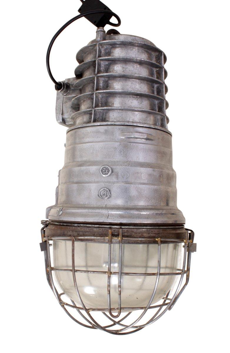 Polnische Industrielle Aluminium Lagerleuchte, 1950er